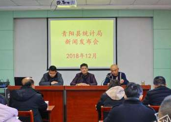 青阳县统计局召开新闻发布会